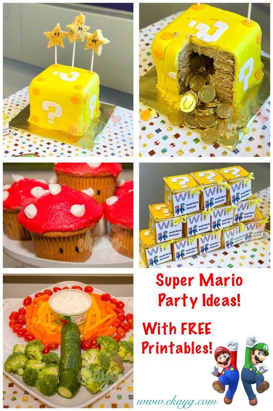 Super Mario Diy Birthday Party Ekayg Crafts